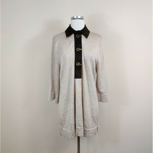 Soft Surroundings Tunic Sweater Faux Suede Trim